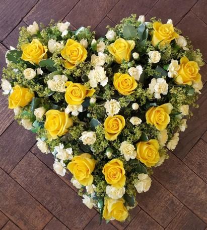 Yellow & White Heart