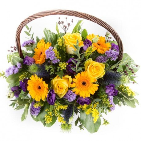 Yellow and Purple Basket