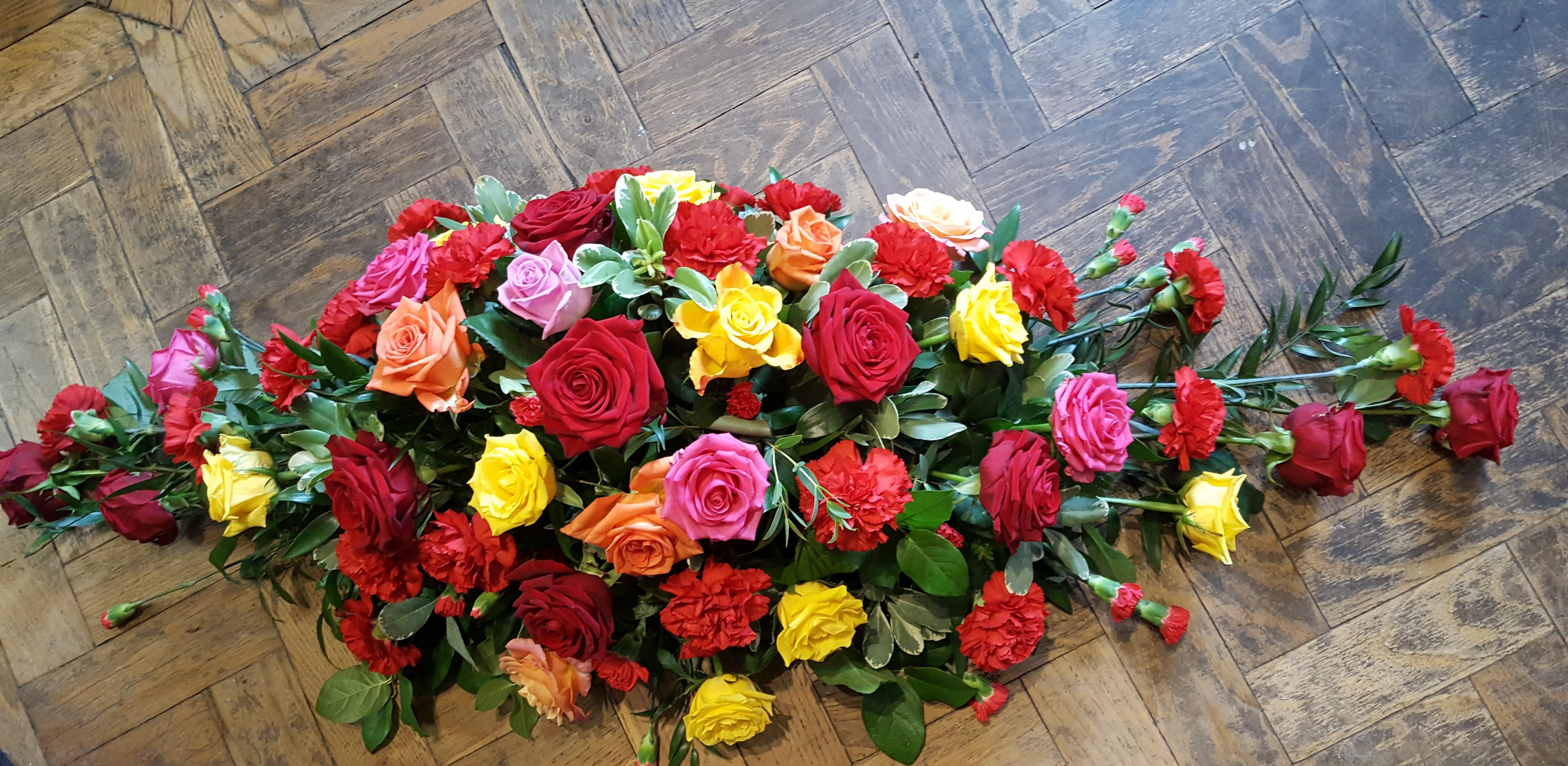 Mix Rose and Carnation Casket Spray