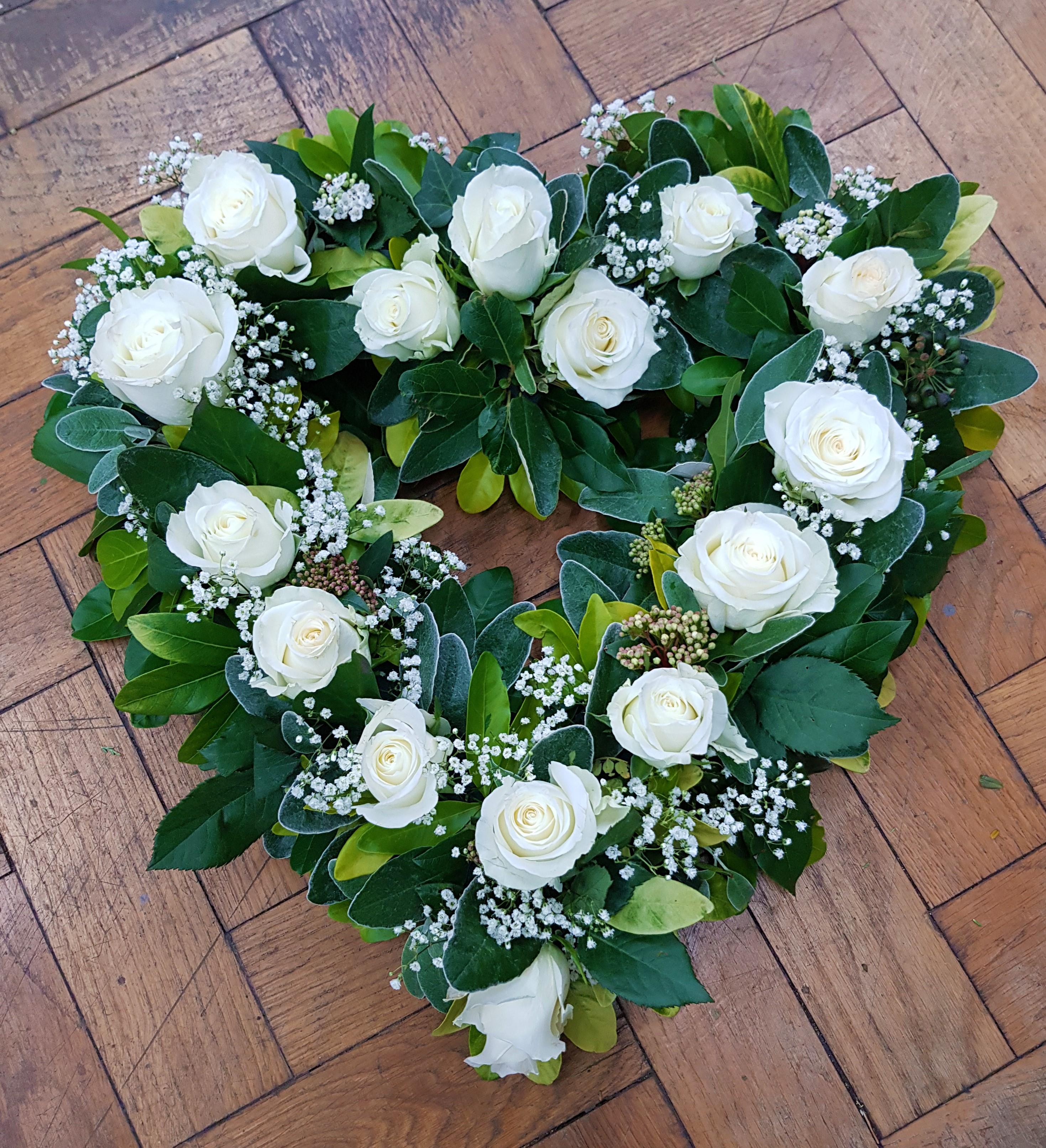 White Rose Open Heart