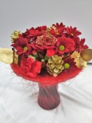 Festive Reds in a Vase